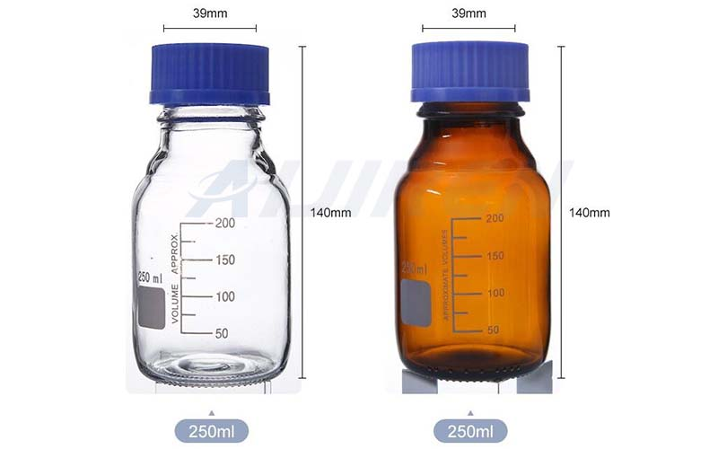 250ml Amber and Clear Glass Bottle