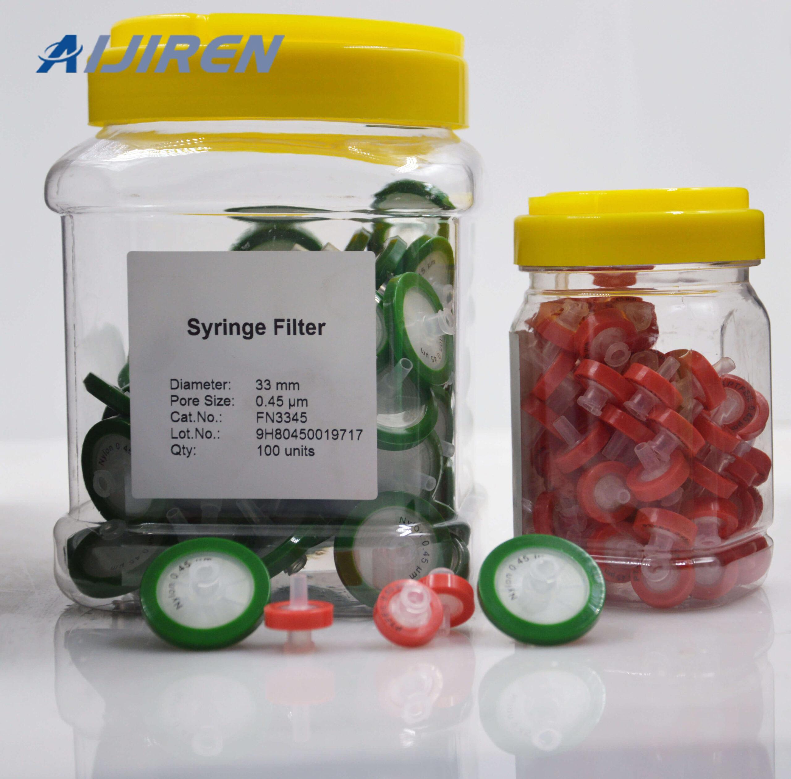 20ml headspace vial33mm 0.45 Nylon Syringe Filter