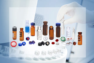 HPLC Vials with Caps for Autosampler