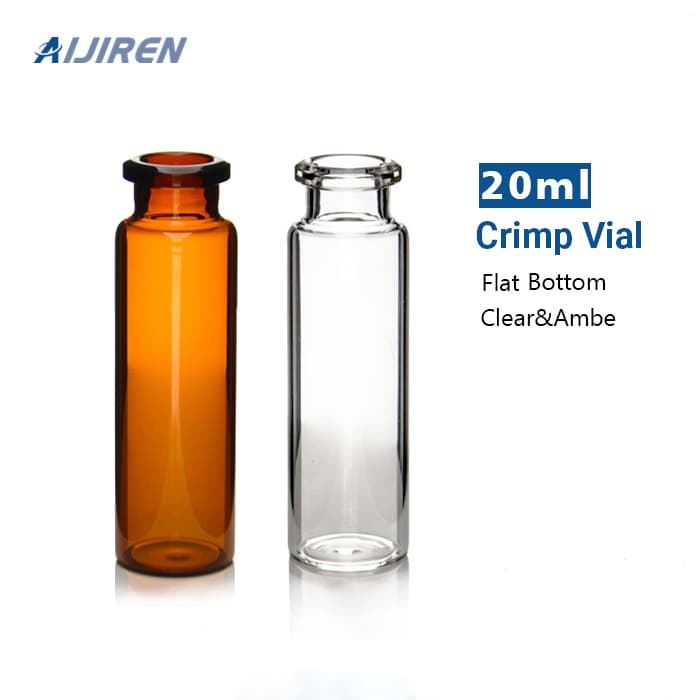 HPLC Sampler Vial 20ml Clear 20mm Crimp Neck GC Vials